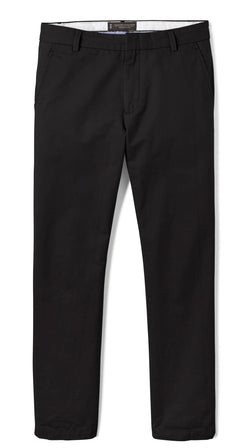 Black Slim Stretch Chino Pant