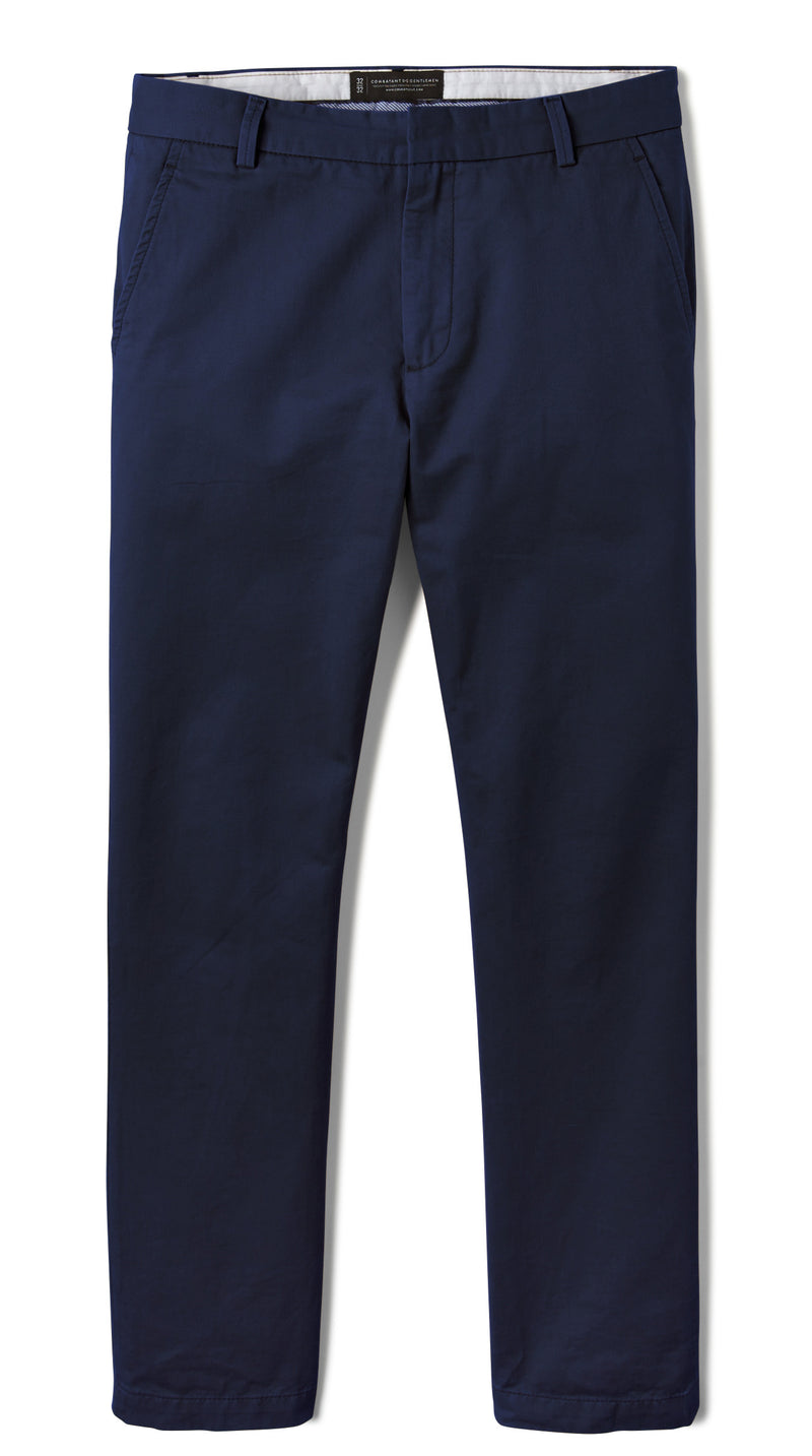 Navy Blue Slim Stretch Chino Pant
