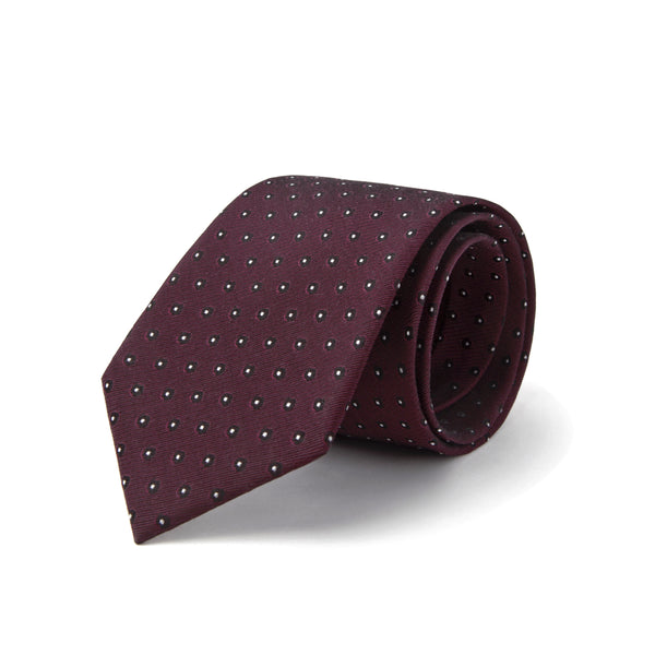 Deep Maroon With Micro Dots Tie