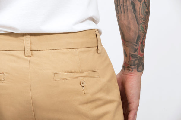 Khaki Straight Stretch Chino Pant