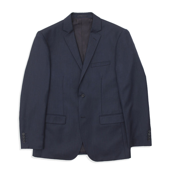 Slate Blue Twill Tailored Fit Suit Jacket