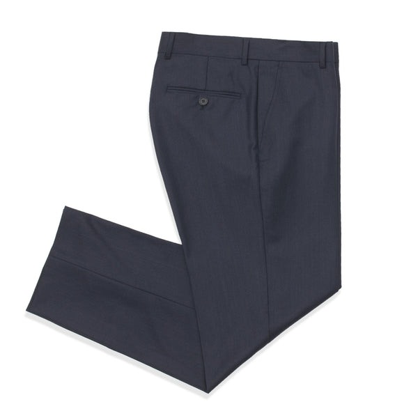 Slate Blue Twill Tailored Fit Suit Pant
