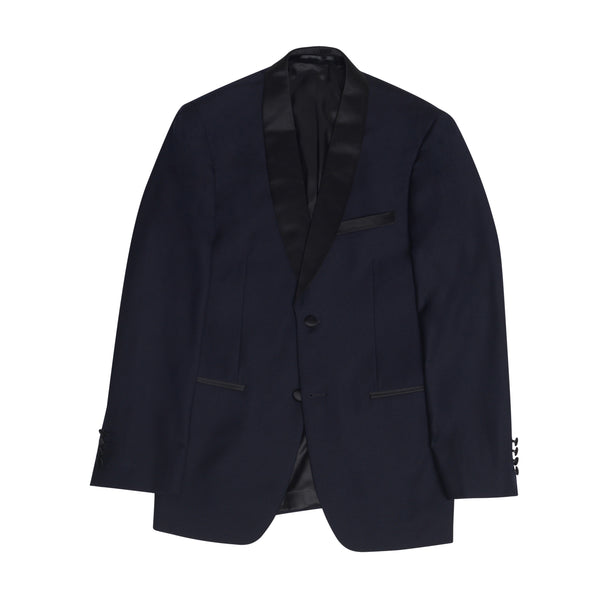 Navy Shawl Collar Slim Fit Tuxedo Jacket