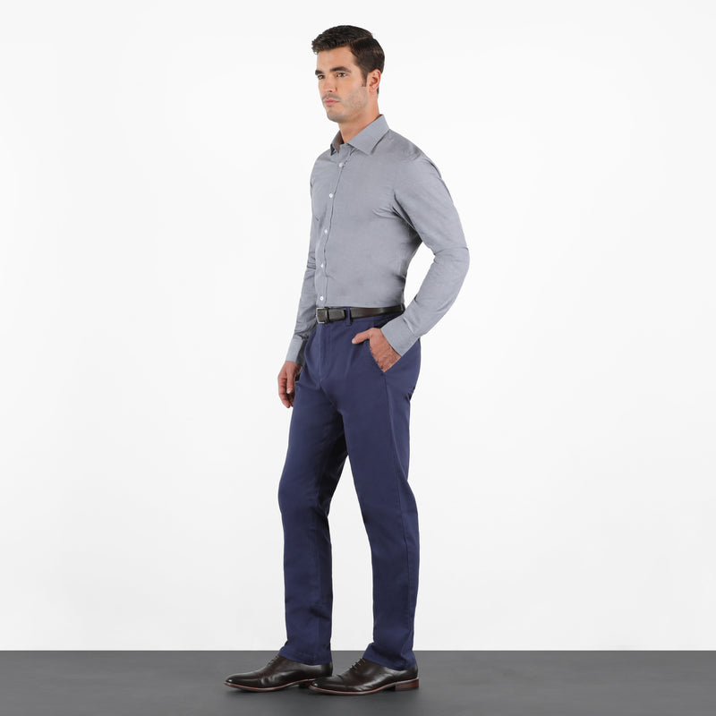 Ash Navy Straight Stretch Chino Pant