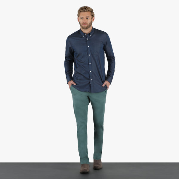 Pine Green Straight Stretch Chino Pant