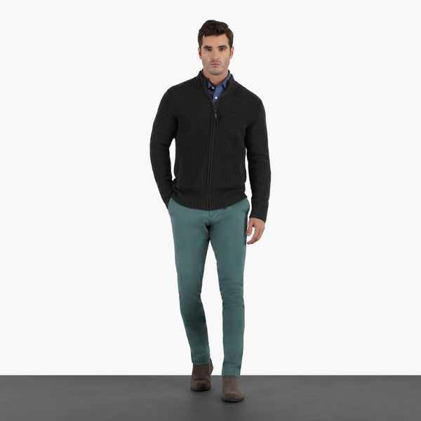 Pine Green Slim Stretch Chino Pant