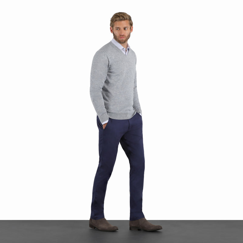 Ash Navy Slim Stretch Chino Pant