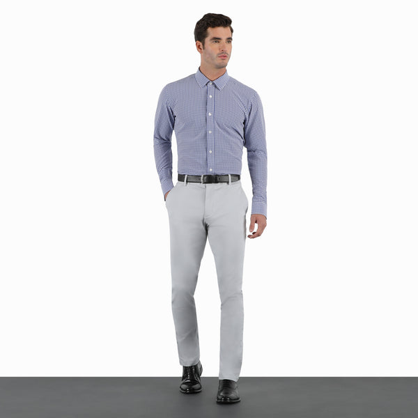 Slate Grey Slim Stretch Chino Pant