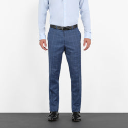 Slate Blue Windowpane Workhorse Pants