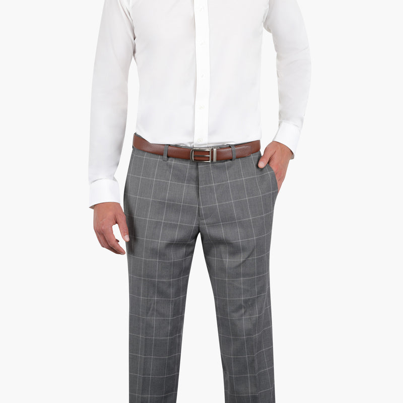 Grey Windowpane Workhorse Pants