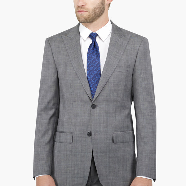 Grey Glen Plaid Peak Lapel Suit