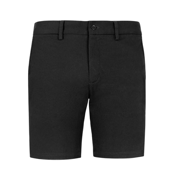 Black Slim Stretch Chino Shorts