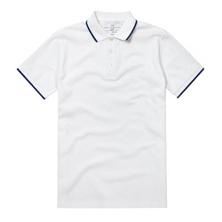 White Tipped Slim Fit Polo Shirt