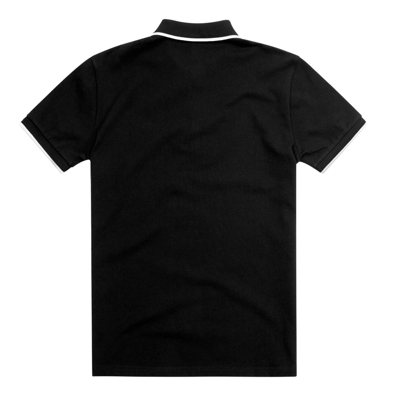 Black Tipped Slim Fit Polo Shirt