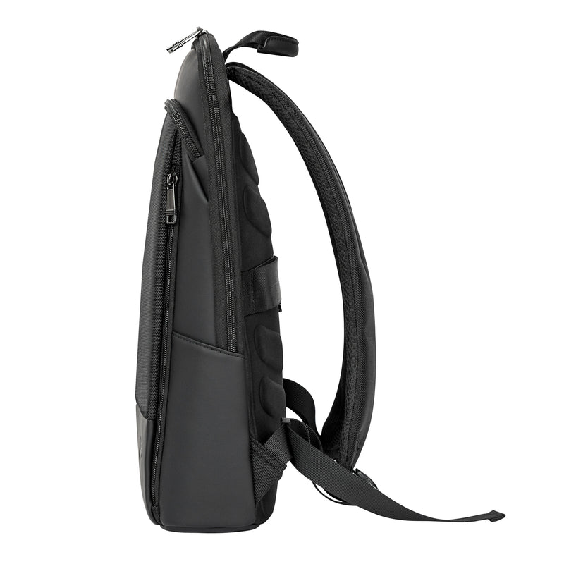 Slim Nylon and Vegan Leather Backpack