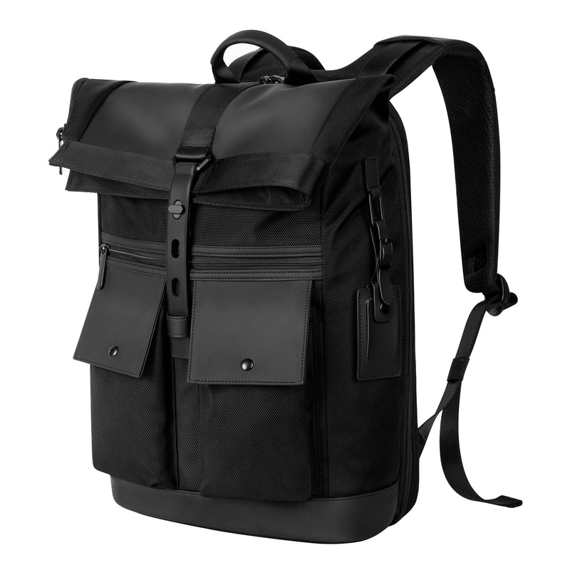 Nylon and Vegan Leather Rucksack
