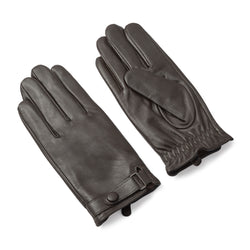 Brown Genuine Leather Commuter Gloves