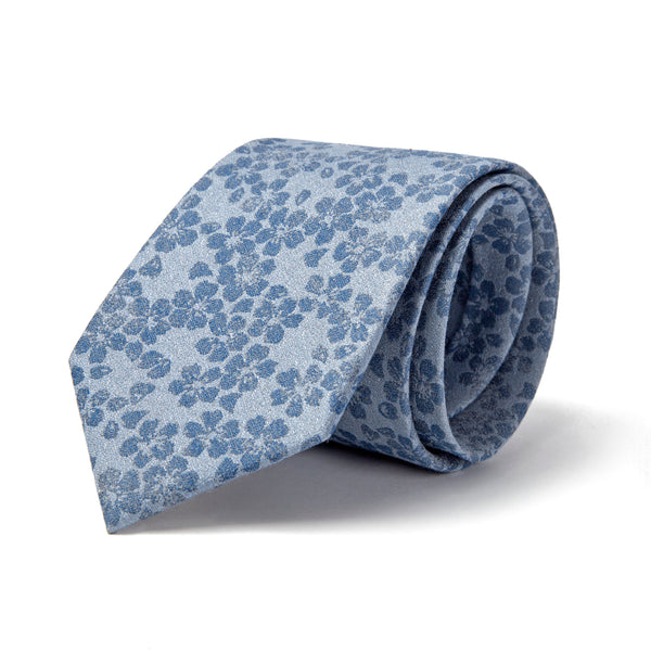 Light Blue All Over Floral Tie