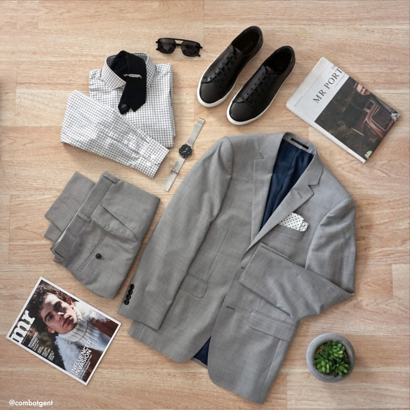 Grey NanoStretch Slim Fit Suit Pant
