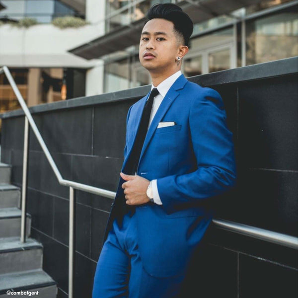 Essential Royal Blue Slim Fit Suit Jacket