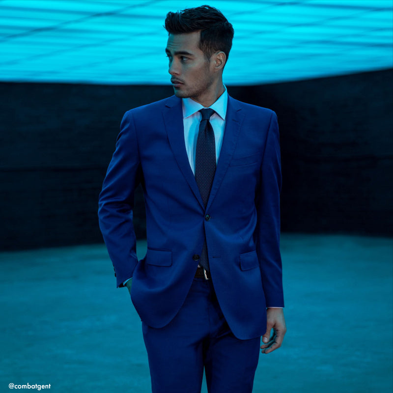 Royal Blue NanoStretch Slim Fit Suit Pant