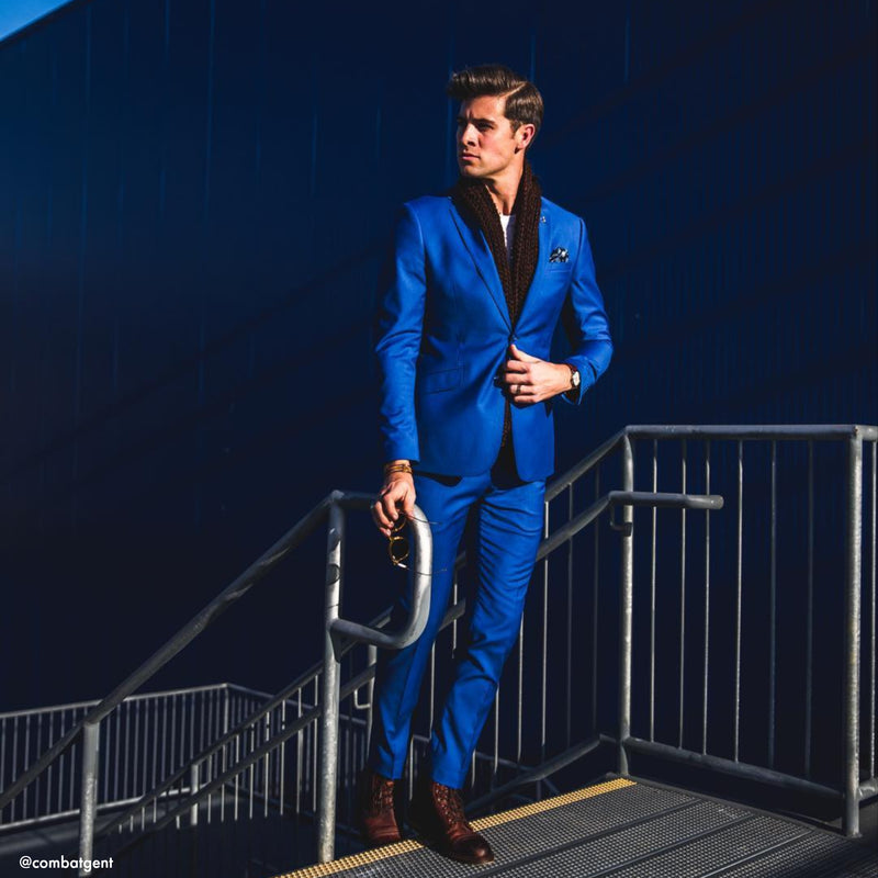 Essential Royal Blue Tailored Fit Suit Pant