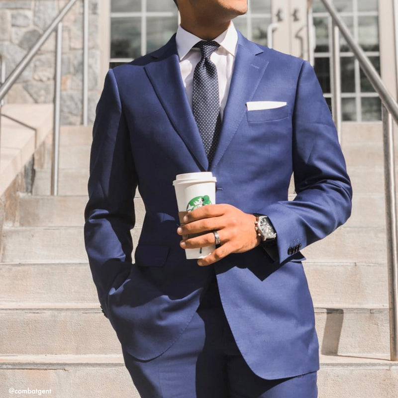 The New Essential Blue Tailored Fit Suit Jacket