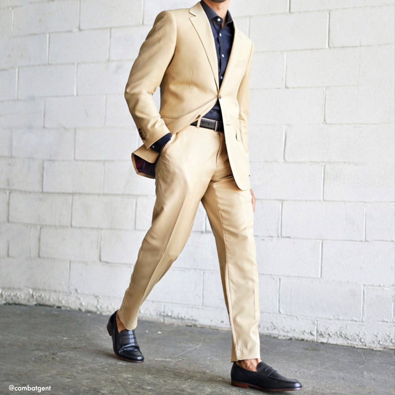 Essential Tan Tailored Fit Suit Jacket