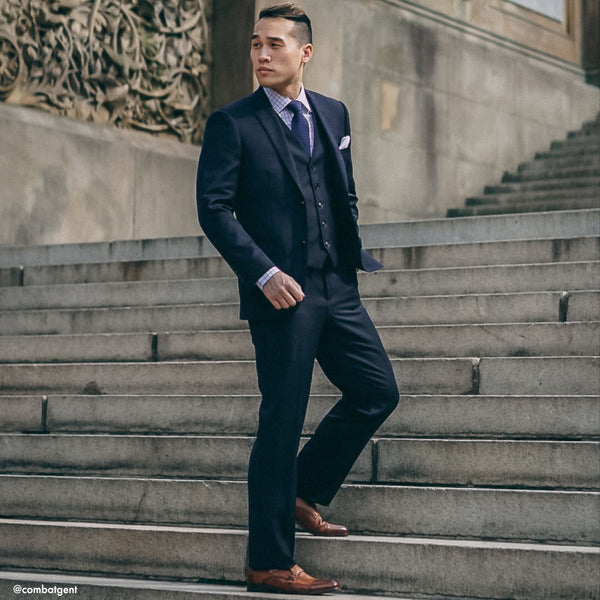 The New Essential Navy Slim Fit Suit Pant