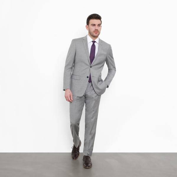 Grey NanoStretch Slim Fit Suit