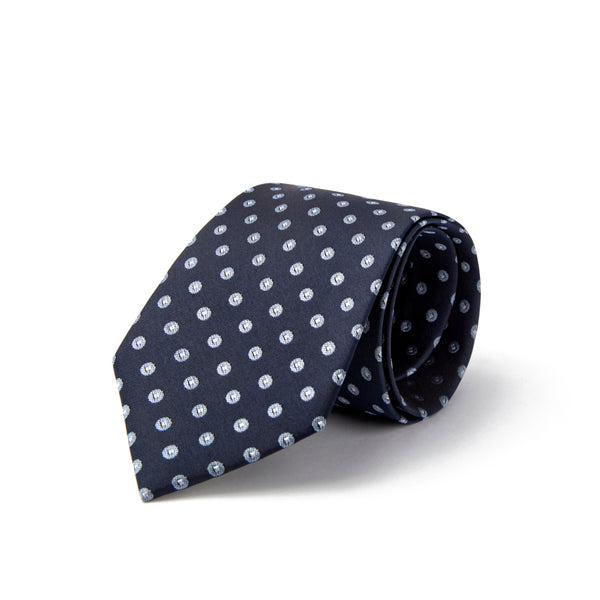 Navy With Blue Polka Dot Tie