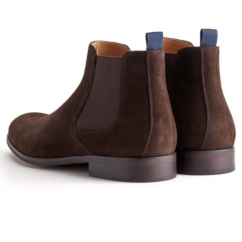 Coffee Suede Chelsea Boot