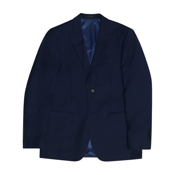 Navy Peak Lapel Slim Fit Suit Jacket