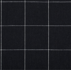 Navy and Chalk Stripe Linen Windowpane