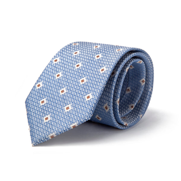 Sky Blue with Diamond Pattern Club Tie