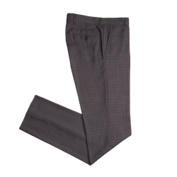 Charcoal Glen Plaid Tailored Fit Suit Pant