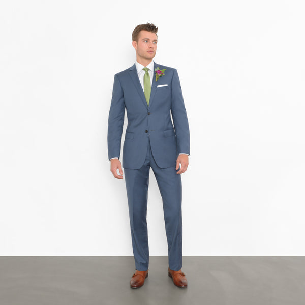 Slate Blue Slim Fit Suit