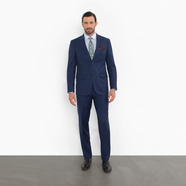 Blue Peak Lapel Slim Fit Suit