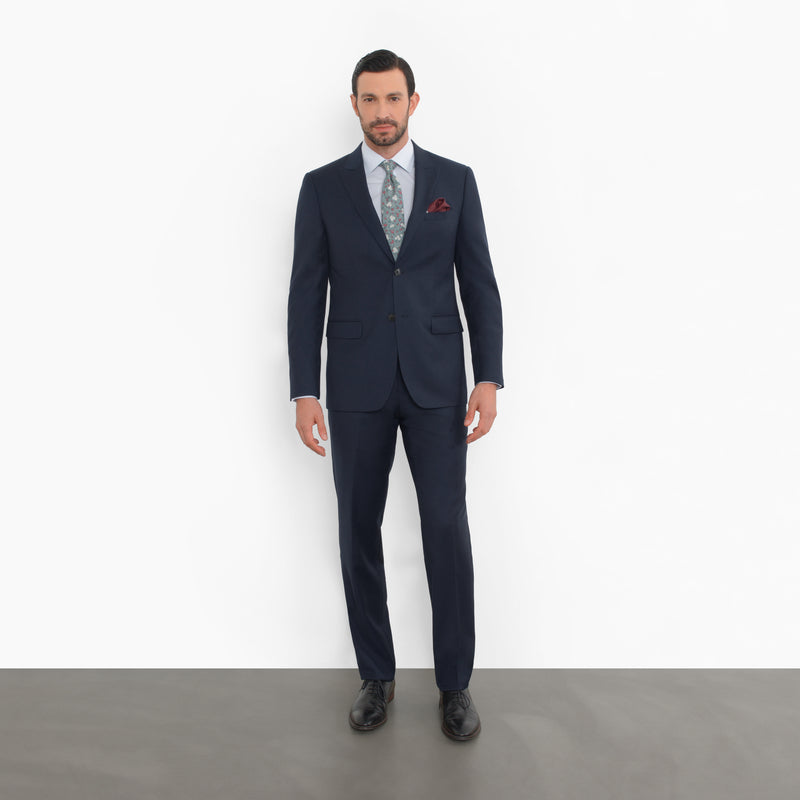 Navy Peak Lapel Slim Fit Suit