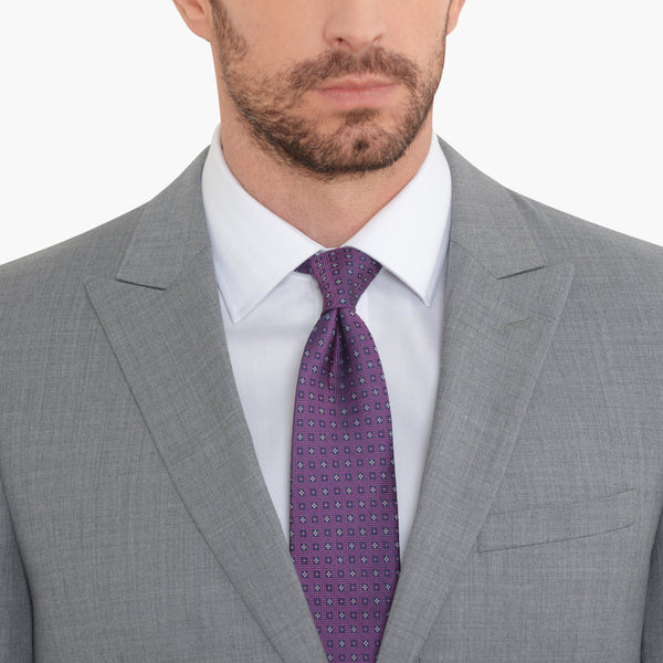 Grey Peak Lapel Slim Fit Suit