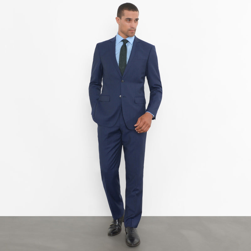 Navy Chalkstripe Slim Fit Suit