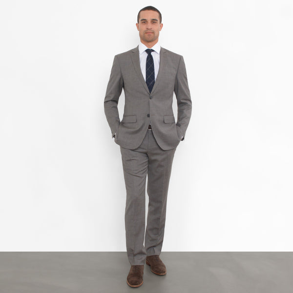 Grey Chalkstripe Slim Fit Suit