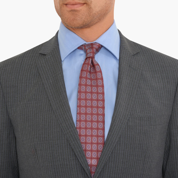 Charcoal Pinstripe Slim Fit Suit