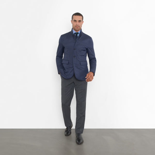 Navy Nylon Tech Blazer