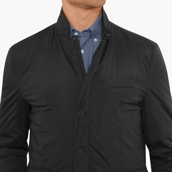 Black Nylon Tech Blazer