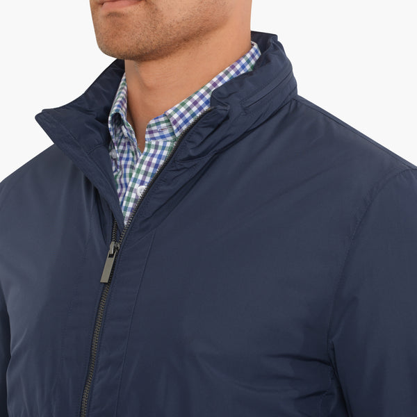 Navy Nylon Jacket