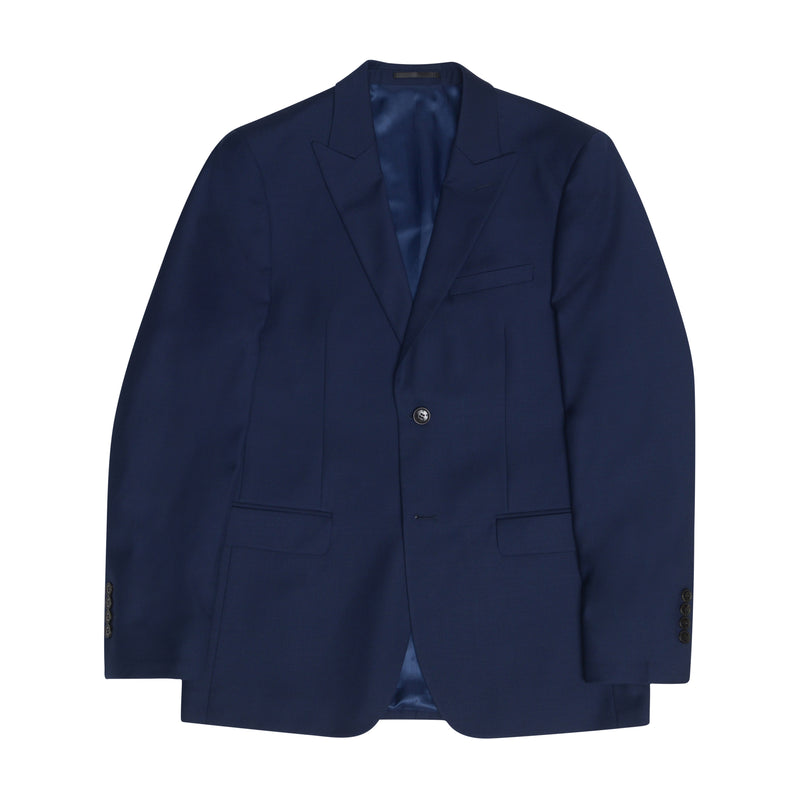 Essential Blue Peak Lapel Slim Fit Suit Jacket