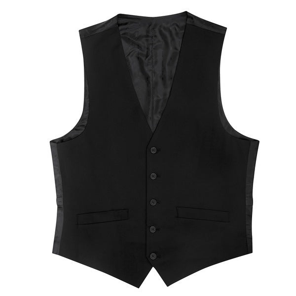 Essential Black Slim Fit Suit Vest