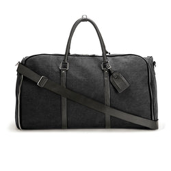 Black Canvas Weekender Garment Bag