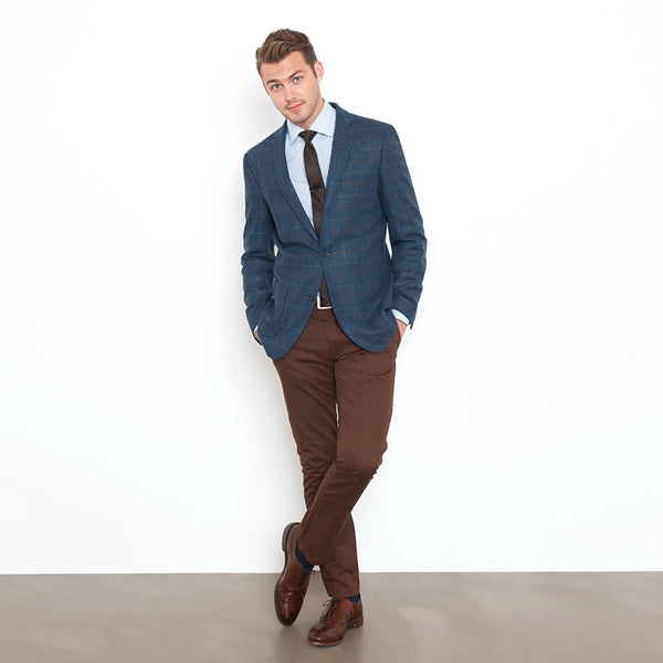Chocolate Brown Slim Stretch Chino Pant